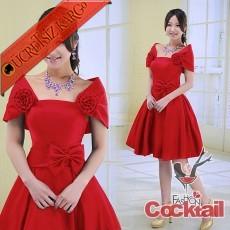 * CINDERELLA japon çiçek fiyonk abiye elbise M