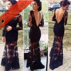 SEXY & ELEGANT kabartma abiye elbise S-Xl siyah