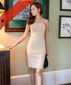 ZİNCİR ASKI japon fit elegant elbise
