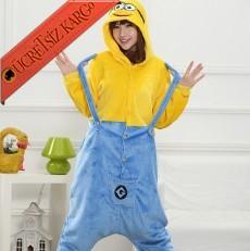 * Sevimli Bahçıvanlı Canavar Japon Pijama S-Xl