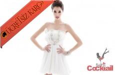 * TAŞLI BÜST japon ANGEL abiye elbise beyaz