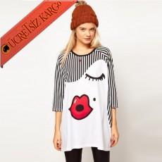 * Çizgi & Surat Japon Genç Kısa Kol Tshirt