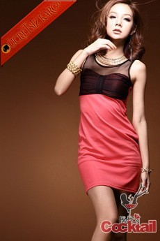 * japon TÜL YAKA büzgü göğüs elbise kırmızı
