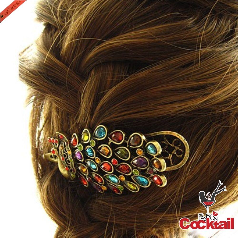 Очень плохо.  Красивая заколка для волос с разноцветными камушками.  Хорошо.