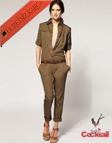 * Amazon Kaşifi Japon Pantolon Tulum L-Xxl Yeşil