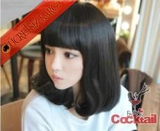 * kaküllü küt saç siyah peruk