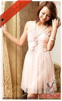 * ÇİÇEK KABARTMA korse japon abiye elbise pembe