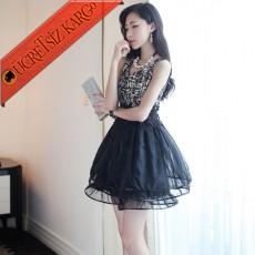ÇİÇEK BEL japon MARBLE abiye elbise