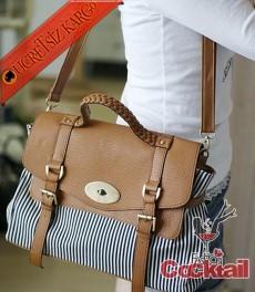 * çizgili japon postacı çanta