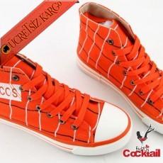 * Boyuna Çizgi Japon Spor Genç Ayakkabı Turuncu 35-39