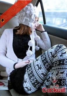 * GEYİK& ÇİÇEK japon eğlenceli kışlık tayt