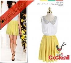 * FAIRYTALE japon gece elbise sarı S M L