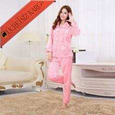 * Polar Japon 2Li Pijama Takım Pembe Bedenli