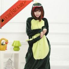 * Eğlenceli Timsah Japon Pijama S-Xl
