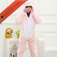 * Sevimli Domuzcuk Japon Pijama S-Xl