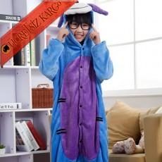 * Sevimli Mavi Eşek Japon Pijama S-Xl
