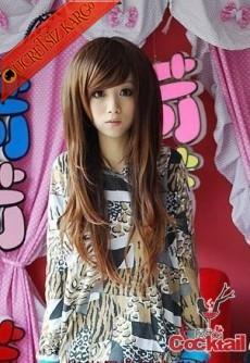 * Japon Yandan Kakül Uzun Saç Peruk