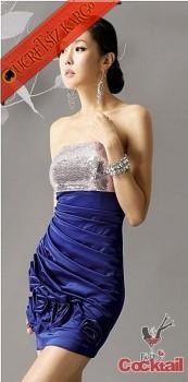 * STRAPLES PAYET japon çiçekli abiye elbise