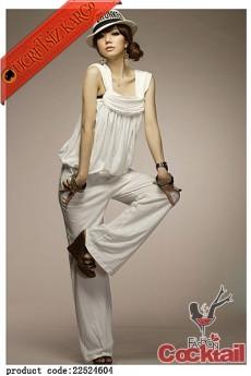 * kolsuz orijinal yaka trendy tulum beyaz