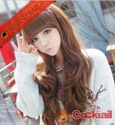 * kaküllü dalgalı japon uzun saç peruk