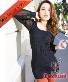* TÜL PRENSES KOL japon party elbise siyah - İNDİRİM ÖZEL