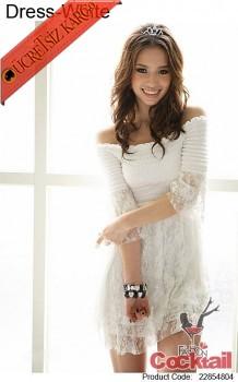 * japon PRINCESS dantel ucuz elbise beyaz
