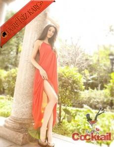 * PARLAK kemer & askı japon uzun gece elbise