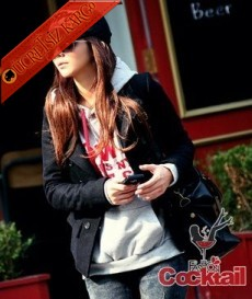 * FASHION japon genç & cool yün ceket