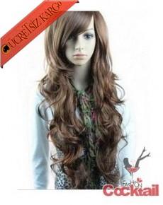 * dalgalı bayan uzun saç peruk