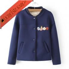 * Armalı Japon Elegant Casual Ceket Lacivert S-L