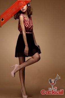 * ORJİNAL YAKA japon puantiye mini elbise kırmızı