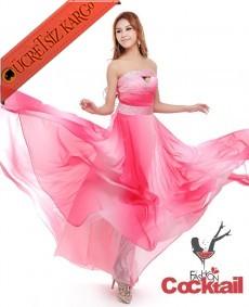 * japon IŞILTILI uçuşan uzun abiye elbise S M L