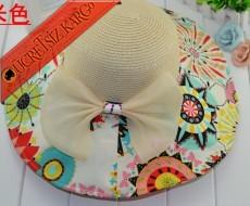 * Geometrik Desen Fiyonk Bayan Hasır Şapka Bej