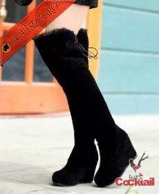 * Japon Dantel Kenar Dizüstü Çizme 35-39 Siyah