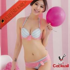 * Bolero Stil Japon Sevimli Südyen Külot Takım 75B