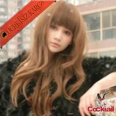 * Kaküllü Kırık Fönlü Japon Saç Peruk