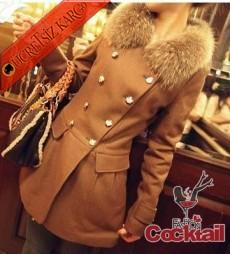 * KÜRK YAKA japon cepli palto mont camel - İNDİRİM ÖZEL