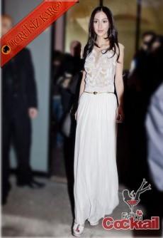 * İŞLEME BÜST japon elegant uzun gece elbise M L