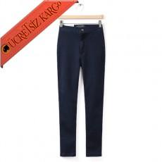* Dar Paça Japon Klasik Kot Pantolon K.Mavi S-L