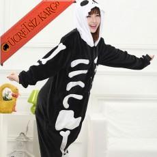 * Eğlenceli İskelet Japon Pijama S-Xl