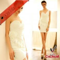 * Drape & Çiçek Bel Japon Abiye Elbise Bej M L