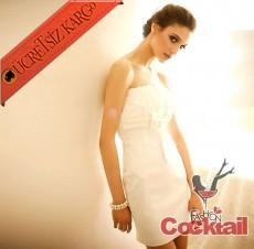 * DEGAJE DETAYLI beyaz abiye japon elbise