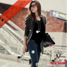 * Japon Street Fashıon Genç Uzun Ceket Gri S M L
