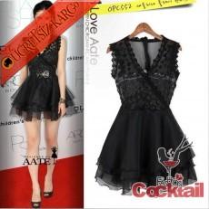 * japon DANTEL BÜST kabarık etek gece elbise siyah
