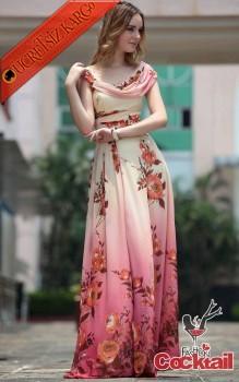 * GÜN DOĞUMU çiçekli uzun japon elbise S M L