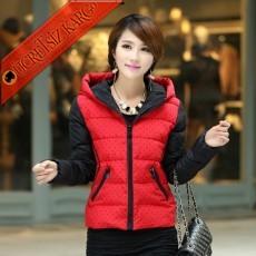 * 2 Renk Japon Şişme Kışlık Mont L-Xxl Kırmızı