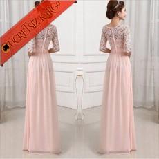 ROMANTİK DANTEL Japon Style Düğün Nişan Uzun Elbise 6 Farklı Renk