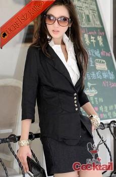 * DORE DÜĞME japon spor genç ceket siyah