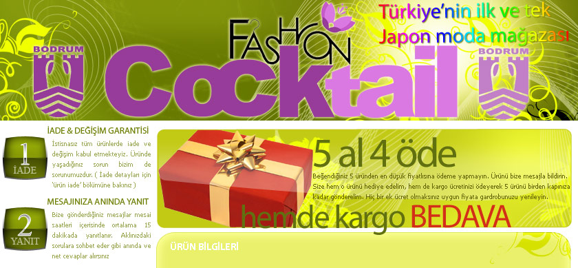 Fashion Cocktail on-line alışveriş